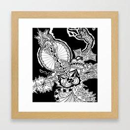 Elusive Rooster Framed Art Print