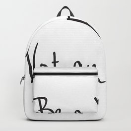 Be a Voice, Not an Echo. Quote Backpack