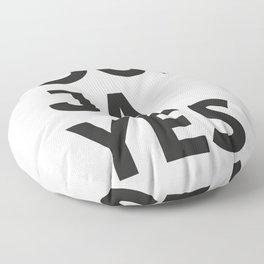 Oui, Ja, Yes Floor Pillow