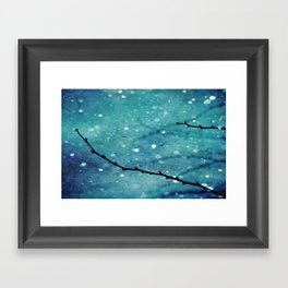 Winter Snow Branches  Framed Art Print