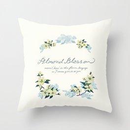 Almond Blossom Throw Pillow