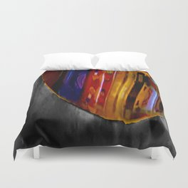 From the Spaceship We See Reflections of Gummy Vitamins Being Consumed By Commander and Mistress Duvet Cover