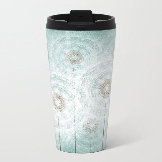 dandelions Metal Travel Mug