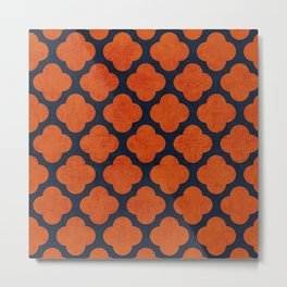 navy and orange clover Metal Print