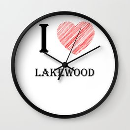 Lakewood Classical. I love my favorite city. Wall Clock