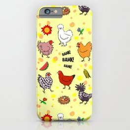 Cute seamless chickens pattern cartoon iPhone Case