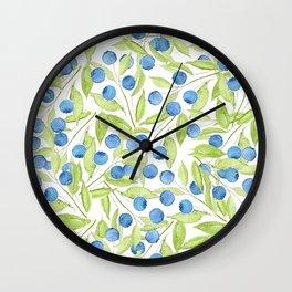 Blueberry Hill Wall Clock