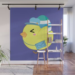 Courier Chicken Wall Mural