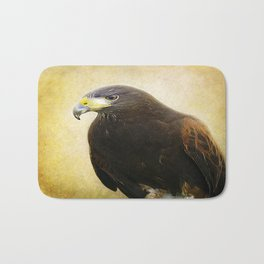 A Harris Hawk Bath Mat