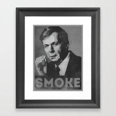 Smoke! Funny Obama Hope Parody (Smoking Man)  Framed Art Print