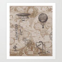 Gears of Flight Art Print