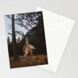 VALLEY CHAPEL AT 6AM Stationery Cards