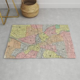 Vintage Map of Rochester NY (1901) Rug