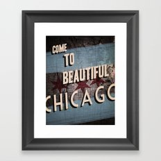 Come to Beautiful Chicago Framed Art Print