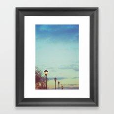 An afternoon walk Framed Art Print