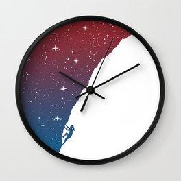 Night climbing II Wall Clock