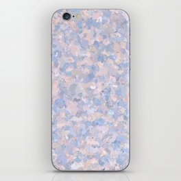 Light pink and blue popcorn 4647 iPhone Skin