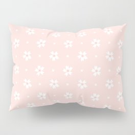 Vintage pastel coral white abstract floral pattern Pillow Sham