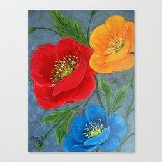 Poppies-3 Canvas Print
