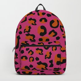 Jungle - Leopard Pattern Pink Backpack