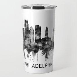 Philadelphia Pennsylvania Skyline BW Travel Mug