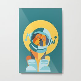 One Giant Leap for All Muttkind Metal Print