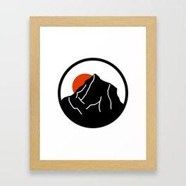 blood mountain Framed Art Print