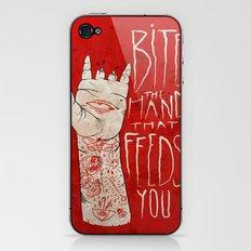 bite the hand. iPhone & iPod Skin