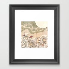 wave scape Framed Art Print