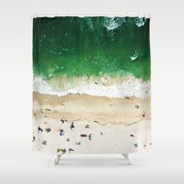 miami beach aerial view Shower Curtain