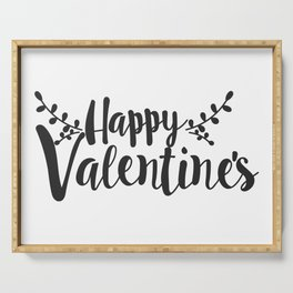 Hand Lettering Happy Valentines Serving Tray