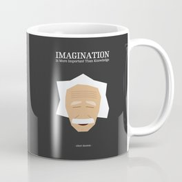 Lab No. 4 - Albert Einstein Inspirational Quotes Typography Poster Coffee Mug