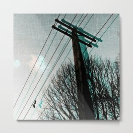 hanging by a string Metal Print