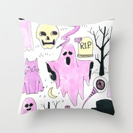 ghost party Throw Pillow