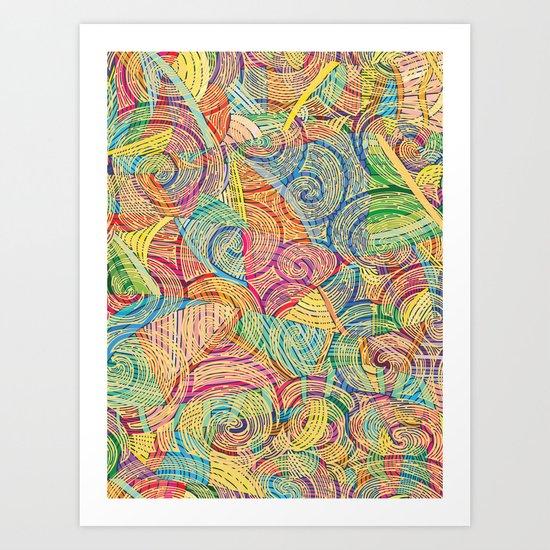 Colorful pattern (a little geometry) Art Print