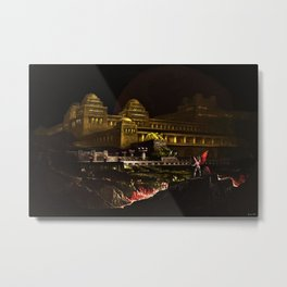 Pandemonium (Hell) Landscape Painting by Jeanpaul Ferro Metal Print