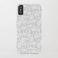polar bear iPhone & iPod Cases featuring polar bear by LOLIA-LOVA