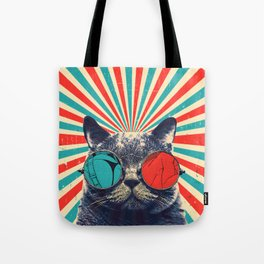 The Spectacled Cat Tote Bag