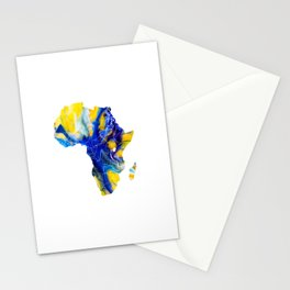 Africa Map 4 Stationery Cards