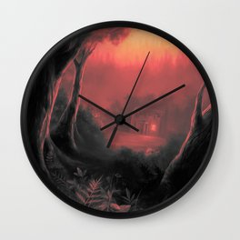 Point Pleasant red Wall Clock