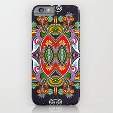 Red & Blue Boho Fantasy Pattern Slim Case iPhone 6s