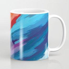 Colorful Brushstroke Digital Painting Coffee Mug