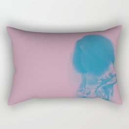 Afro Retro Moments Mauve & Teal Rectangular Pillow