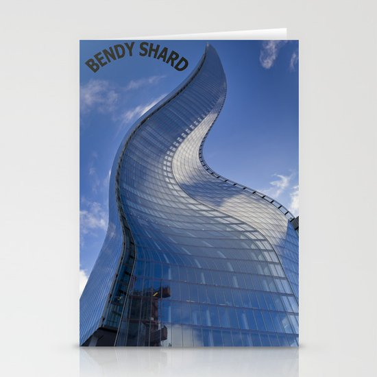 The shard London Bend Stationery Cards