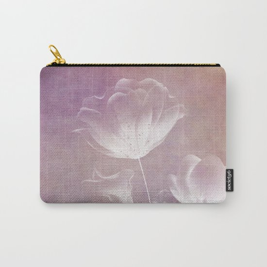 SATIN FLORAL Carry-All Pouch