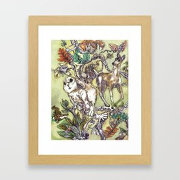 Fauna Inlay Pattern #1 Framed Art Print