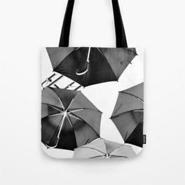 Black Umbrellas Tote Bag