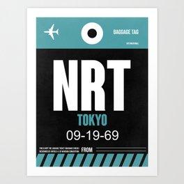 NRT Tokyo Luggage Tag 2 Art Print