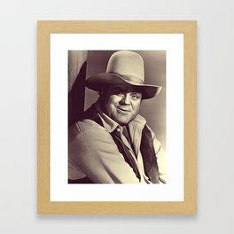 Dan Blocker, Vintage Actor Framed Art Print