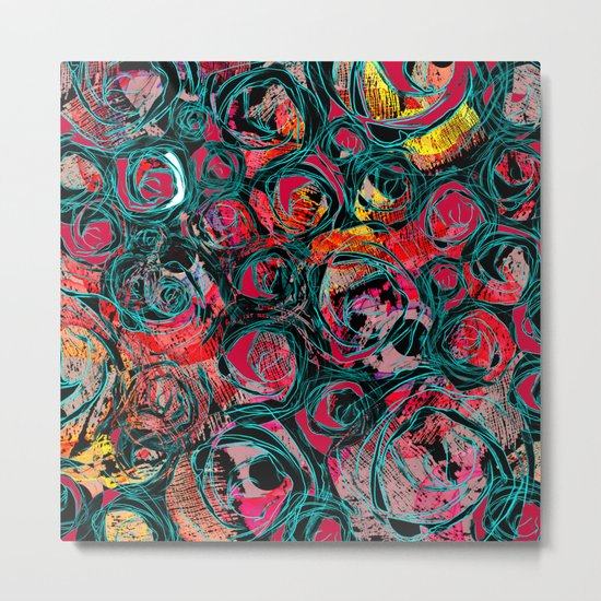 Floral abstract(36). Metal Print